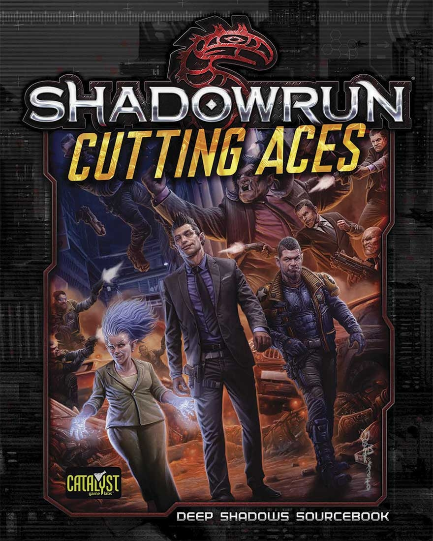 Cuttings Aces is for use with Shadowrun, Fifth Edition, and it also  contains plot information, story ideas, and characters that can be used  with Shadowrun: ...